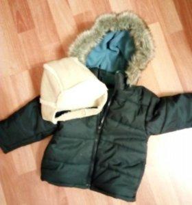 Демисезонная курточка, шапочка в подарок