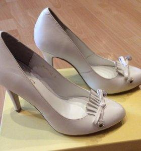 Туфли нат. кожа, новые
