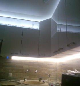 Подсветка рабочей зоны светодиодной лентой