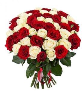Розы свежесрезанные. Составим букет