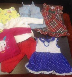 Одежда ( платья, кофты,  итд)на девочку 74-80