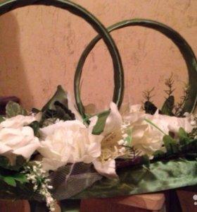 Свадебные цветы на автомобиль