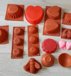 Силиконовые формочки для кексов, шоколада