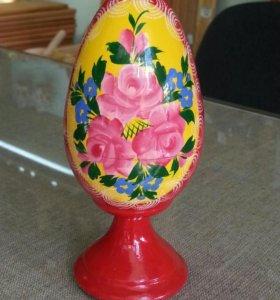 Пасхальное яйцо - шкатулка. Роспись.