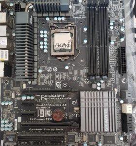 Материнка с процесором.