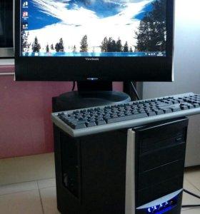 2 ядерный ПК + монитор 20 дюймов