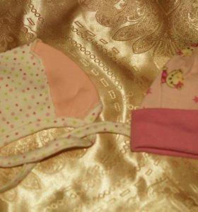 Шапочки на новорожденную малышку