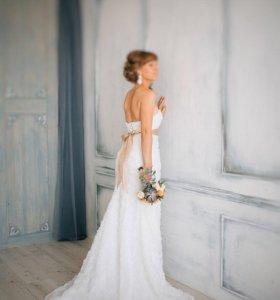 Абсолютно новое оригинальное свадебное платье