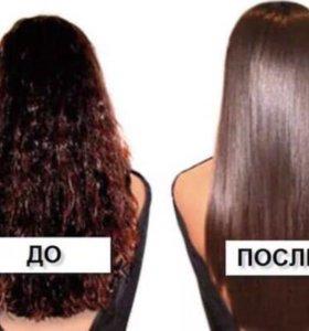Аминокислотное выпрямление волос