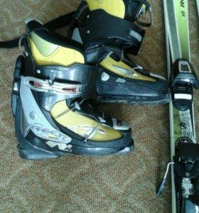 Горные лыжи+ботинки