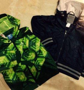 Детские куртки- ветровки, деним и пиджак.