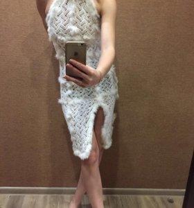 Платье со ставками из кролика!для фотосессии