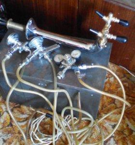 Охладитель пивной на 2 потока б\у в комплекте