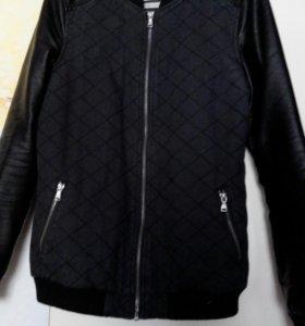 Куртка (рукава кожа)