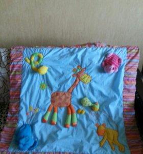Развивающий коврик с мягкими игрушками