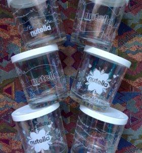 Набор из 6 стеклянных стаканов с крышками