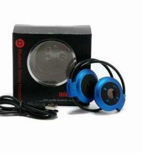 Беспроводные Bluetooth наушники + mp3 плеер!