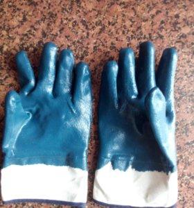 Прорезиненные перчатки