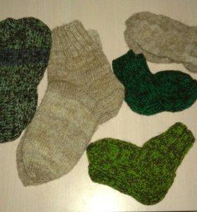 Вязанные носки и следки