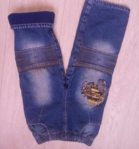 Утеплённые джинсы б/у(на флисе)