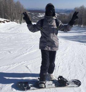 Сноубордическая куртка + нашивки