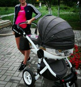 Продам коляску после одного ребёнка 2 в 1
