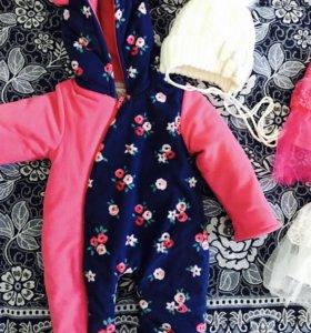 Продаю детские вещи для девочек от 1-6 месяцев
