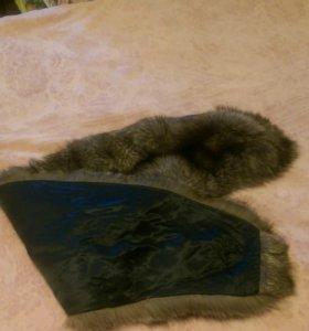 Накидка мех гаржетка из чернобурки