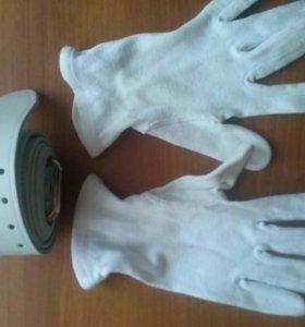 Парадный ремень и 2 пары перчаток