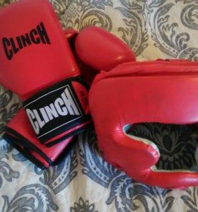 Шлем, перчатки боксерские