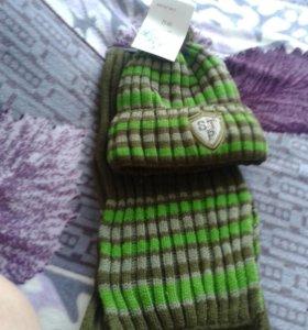 Новый набор шапка и шарф