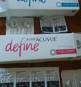 Контактные линзы define acuvue