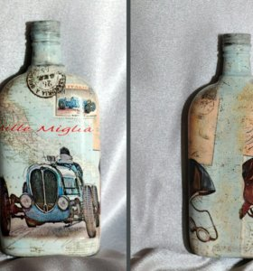 Интерьерные бутылочки ручной работы