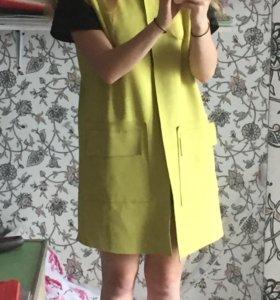 Удлиненный жилет женский