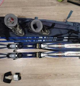 Горные лыжи с ботинками