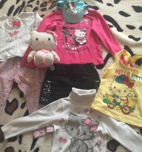 Одежда для девочки Китти от 1,5года  до 4 лет