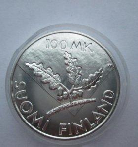 3 монеты Серебро Финляндии
