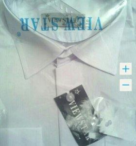 Рубашка белая новая 98,104,110,116см