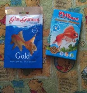 Корм для золотой рыбки