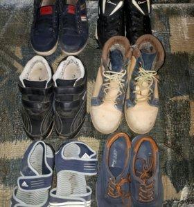 6 пар - детская обувь 35 размер