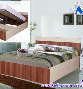Кровать с подъёмным мех-м 1.6*2.0 матрас в подарок
