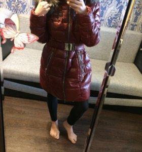 Куртка из ЭКО кожи с натуральным мехом песца