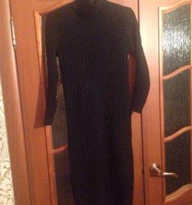 Вязаное платье-лапша