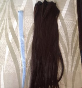 Волосы на заколках новые