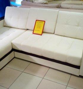 Угловой диван Атланта в коже