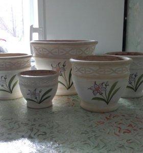 Набор керамич. кашпо