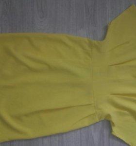 платье ярко- желтое