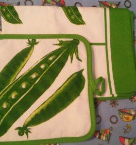 Кухонное полотенце и прихватка