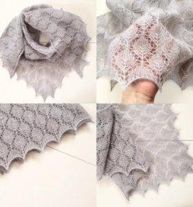 Ажурный треугольный платок (шаль)