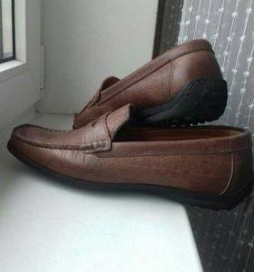 Кожаные мокасины туфли manitu